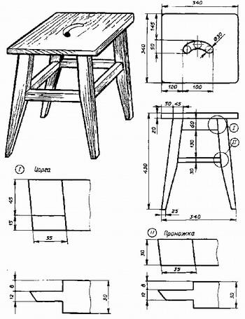 Как сделать стул схема