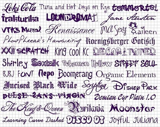 Подборка креативных шрифтов, в
