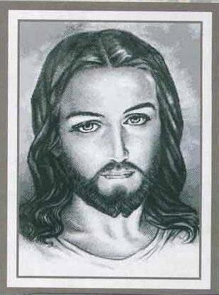 Вышивка крестиком - Иисус Христос.