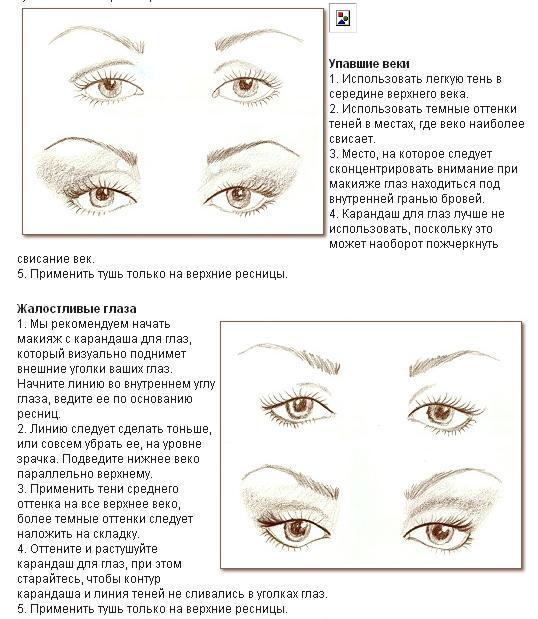 Рисуем уголки глаз