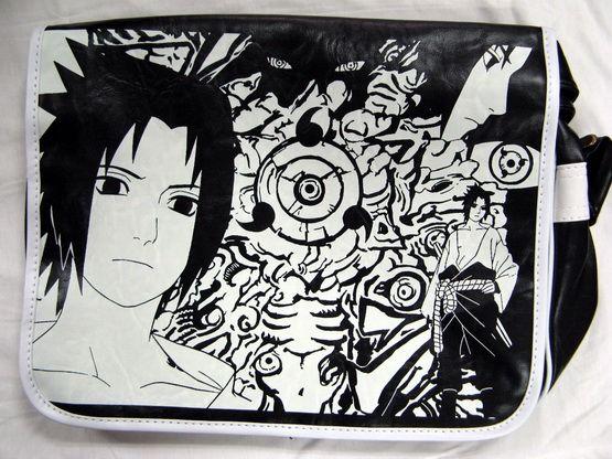 Сумка Naruto черн.-бел - фото 1.