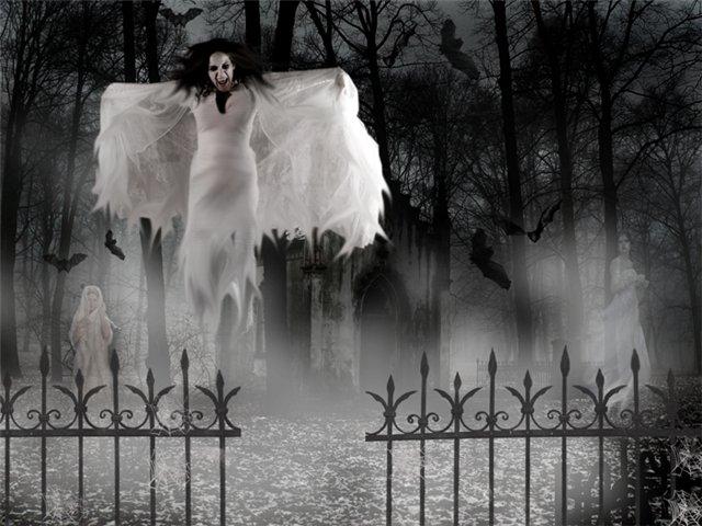 Явление призраков на кладбище или по ту сторону оградки. Опубликовать в Tw