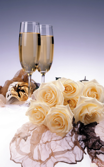 Картинки цветы и вино 6