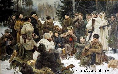 Ю.М.Непринцев Отдых после боя (Василий Теркин)