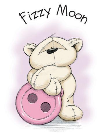 Fizzy Moon - медведь с розовой пуговицей - новый сентиментальный персонаж из Англии.