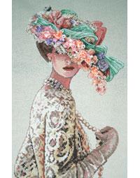 Девочка в шляпке вышивка