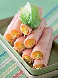 Cosmopolitan - Рулеты из ветчины с сырной начинкой, фото 1