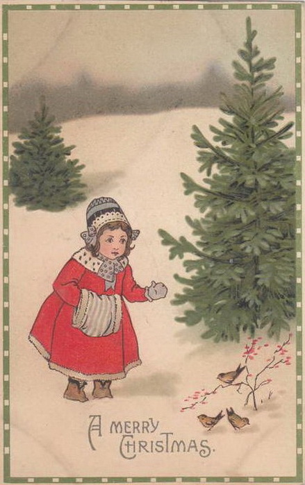 Первый рождественская открытка
