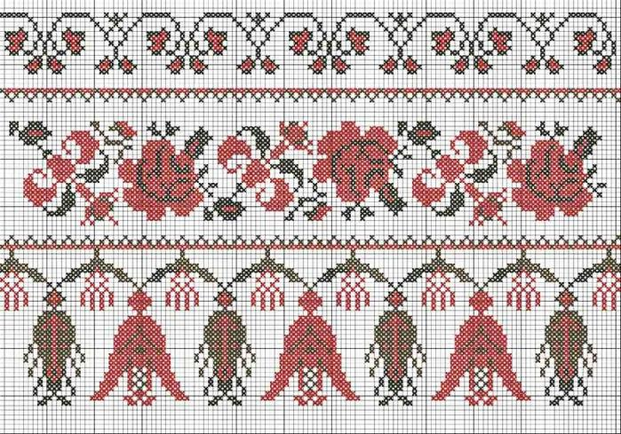 Схема вышивки крестом для рушника на свадьбу 67