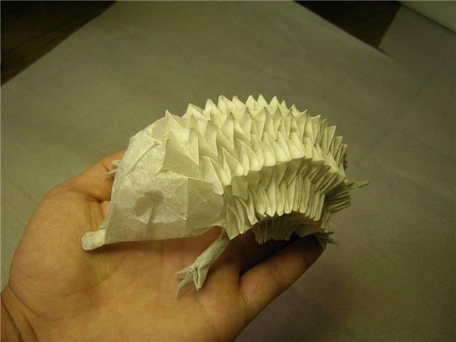 Ежик-оригами