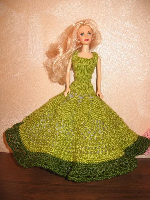 Вязаные платья для кукол крючком фото схемы