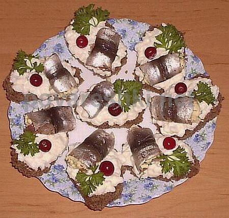 Бутерброды с килькой на праздничный стол рецепты