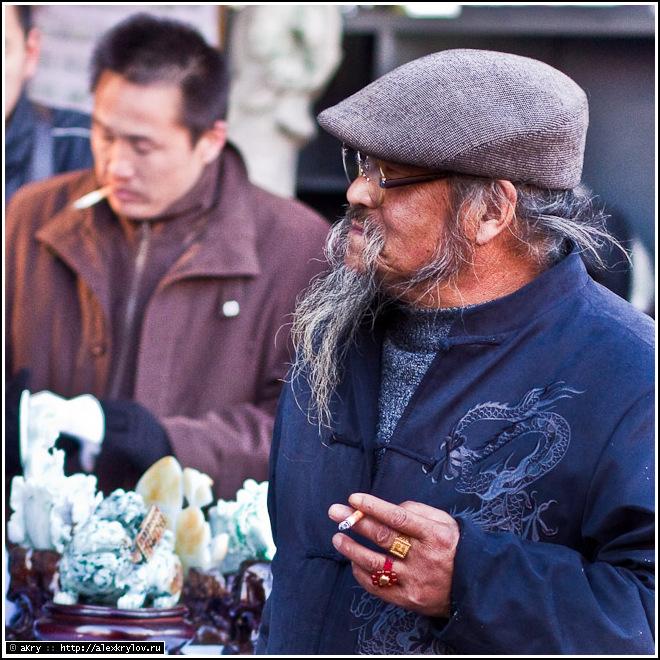 Персонаж на блошином рынке Паньцзяюань в Пекине