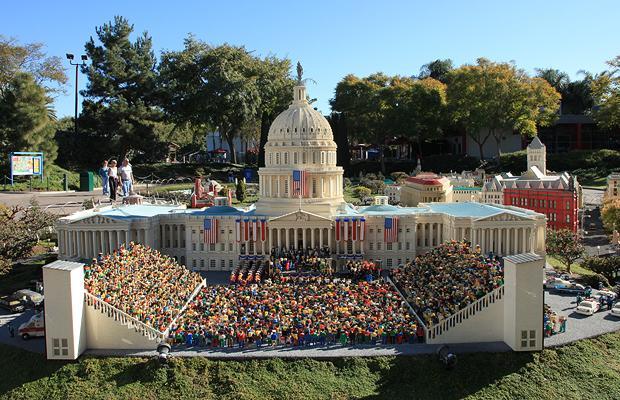Барак Обама инаугурация Legoland