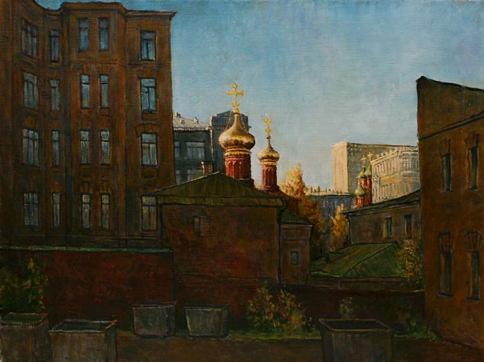 В. Качанов. Всесвятская церковь в Кулишках с задворок, 2004 г.