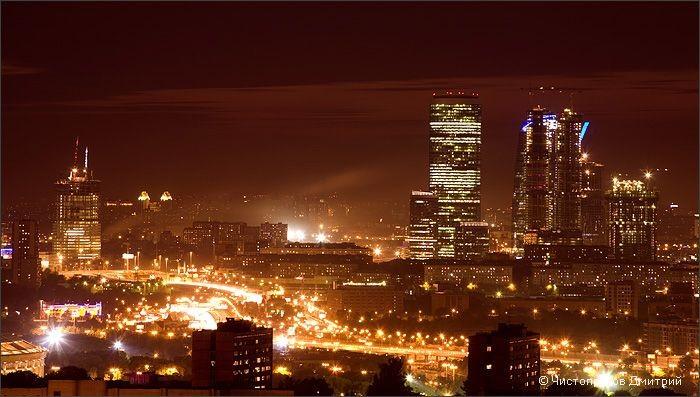 фото ночной Москвы