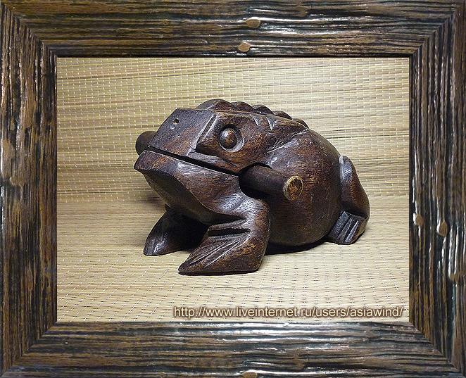 Деревянная лягушка из Таиланда