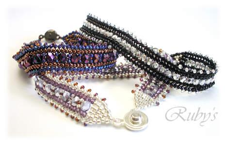 Простые схемы плетения браслетов из бисера.