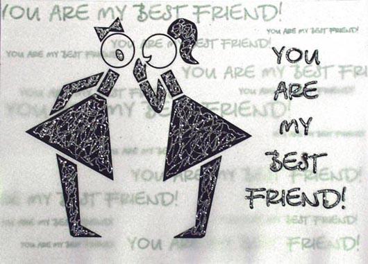 открытка лучшей подруге: