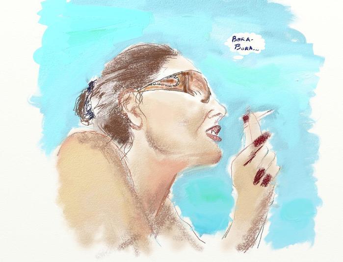 Мариша на пляжу