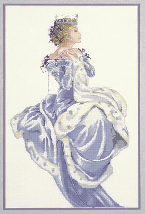 DEPOSIT.  Все картинки кликабельны.  Название: Схема для вышивания Королева Зима.