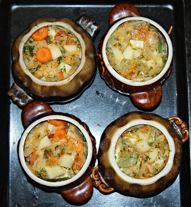 Жаркое в горшочках с курицей в духовке рецепты с фото