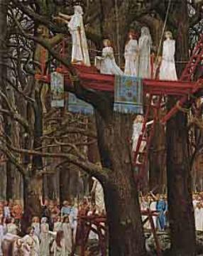 Воссоединение с Элементальными Царствами 40945672_Druids_Cutting_the_Mistletoe_by_Henry_Paul_Motte286x360