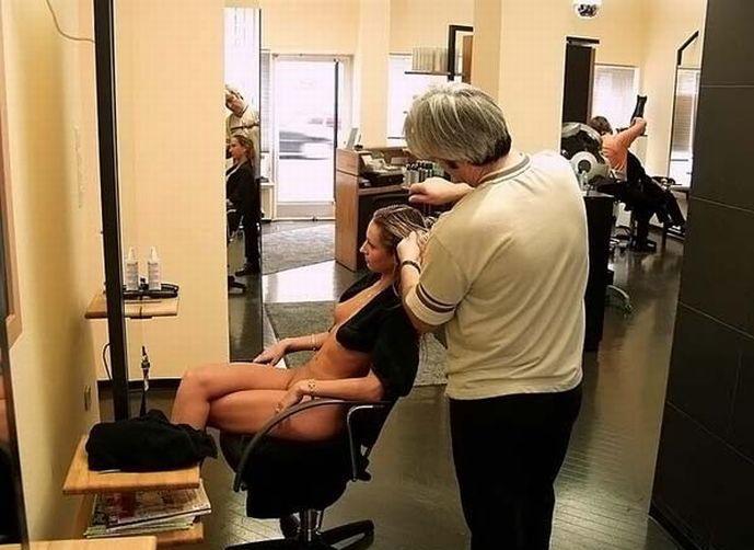 Факты о прическах и парикмахерские для голых девушек