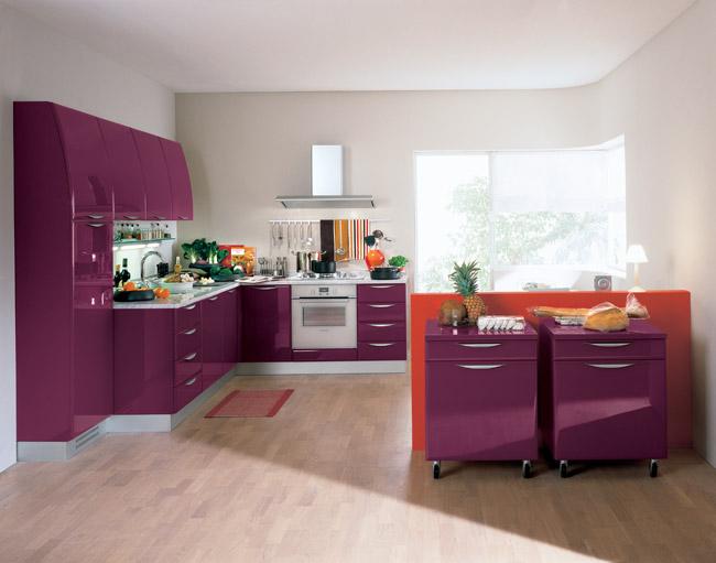 Вишневая кухня фото 8