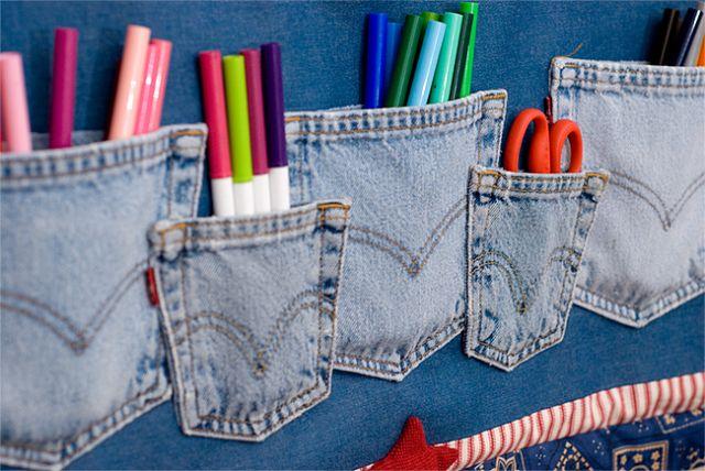Из старой джинсовой одежды можно сделать множество интересностей,например.  В итоге вы прекрасно...