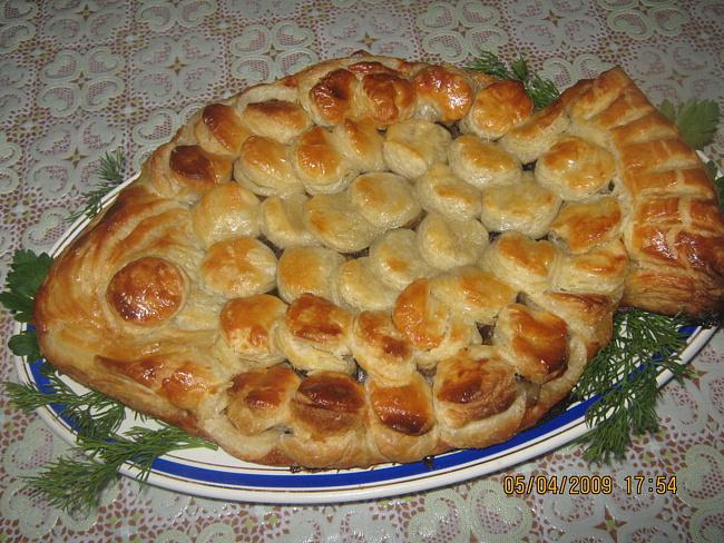Пирог с рыбой из слоеного тесто рецепты с