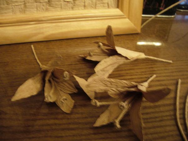 Панно из бумажной бечёвки (шпагата)