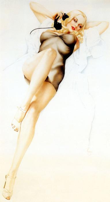 рисованные голых картинки девушек