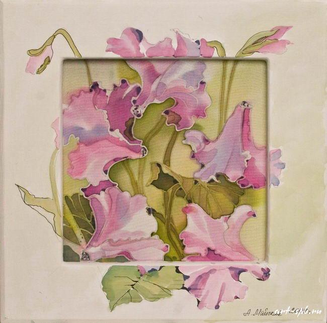 23.jpg - Картина батик цветы.