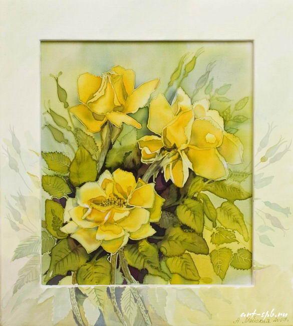 Жёлтые розы.