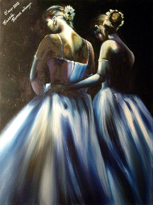 ...жилке у... Ольга Слезкина Балет (Белые птицы).  Сражающаяся балерина.