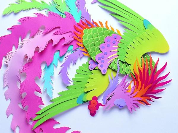 Как сделать из цветной бумаги на цветном картоне