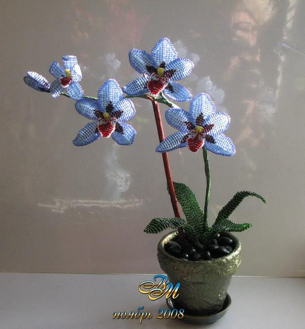 орхидея из бисера схема плетения, также как сплести из бисера дракона.брошь из бисера схема плетения - Сумки...