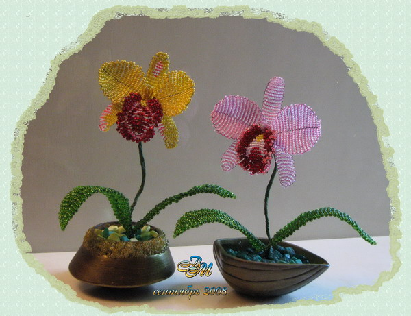 схема орхидеи из бисера - Ппланета схем.