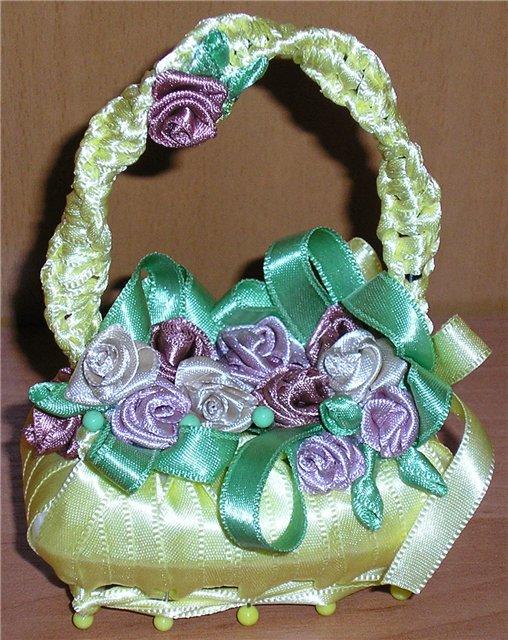 13.00 Корзиночка на мыле Помните, был такой ретро-сувенир - корзиночка из цветных лент, сделанная на мыле.