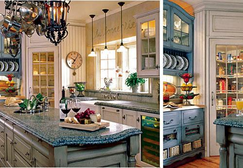 белая кухня в стиле прованс.