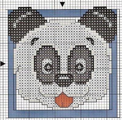 Вышивка крестом - Панда Сайт