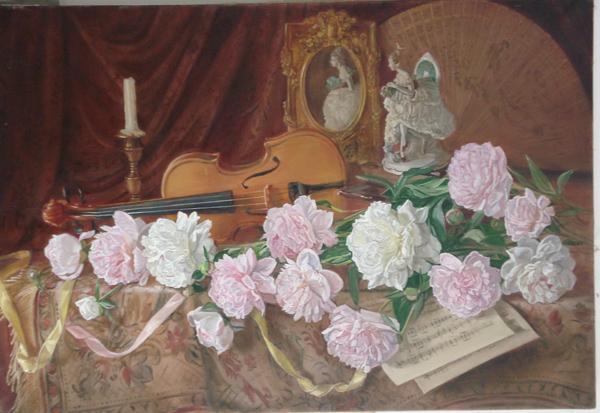 Краса и творчество Набор для вышивания бисером Мелодия для скрипки... ... вышивки: 45,8 х 31,0 см. Количество цветов...