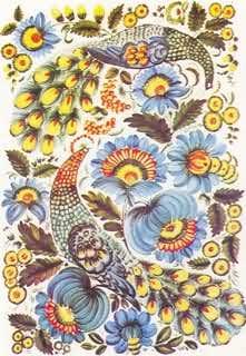 Он выполнил два портрета Т.Шевченко: на первом изобразил Великого Кобзаря в шапке и кожухе на фоне красных цветов...