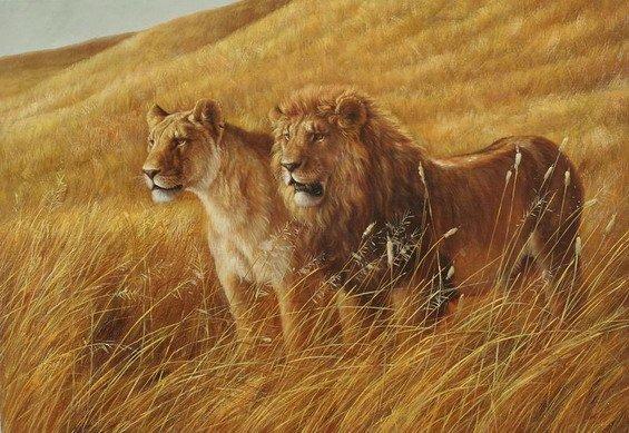 львы картины - Лучшие схемы в быту.