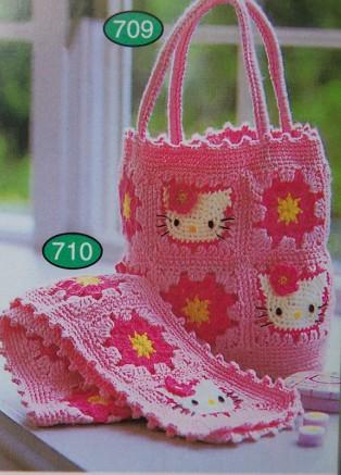 МамОляС. сумки.  Сумочка и шарфик с Китти.  Это цитата сообщения.