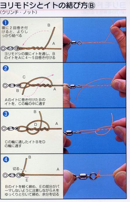 Все способы вязания рыболовных узлов
