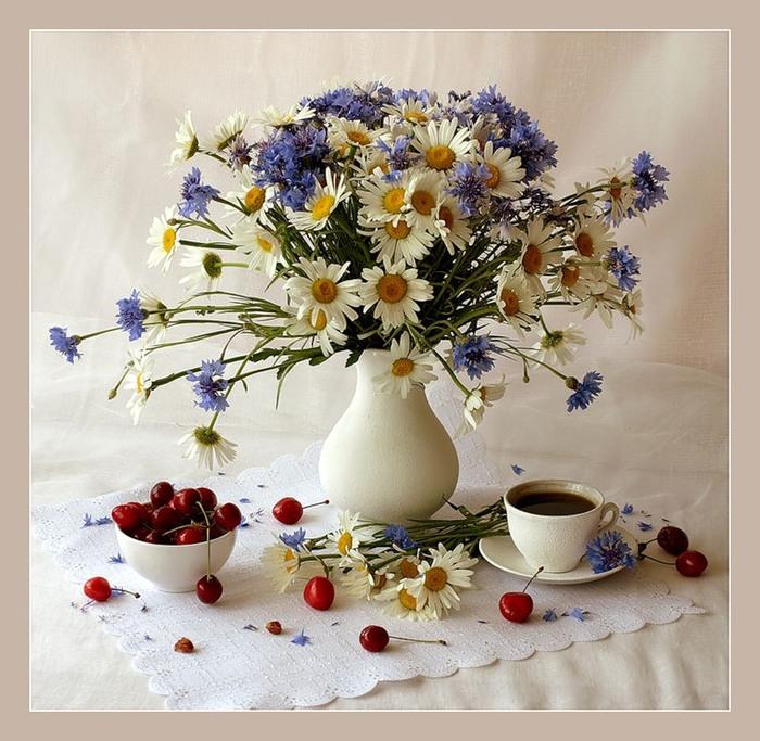Скачать осенние букеты из цветов и фруктов от Ольги Ковтун.