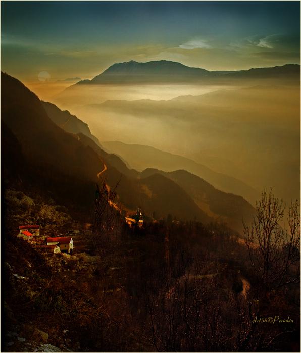 Черногория вид с монастыря острог