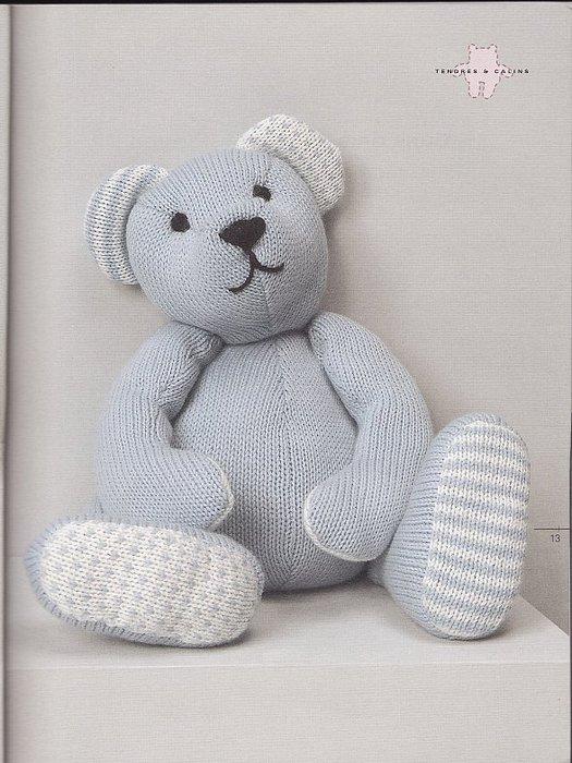 Схемы вязание медведей. Мишка